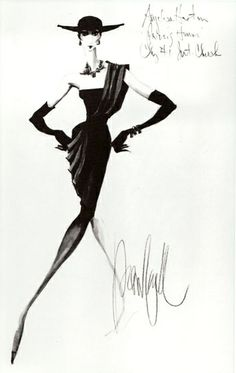 Fashion week Chanel Coco fashion sketch pictures for girls