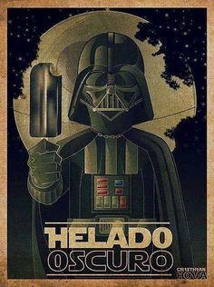 Helado oscuro. Ilustración por Cristhian Hova. http://www.gorditosenlucha.com/