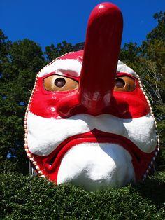 Huge Musk of Tengu, Legendary Mountain Goblins in Shizuoka Haruno, Japan|巨大な天狗のお面