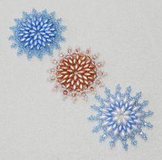 Snowflake 8 Beaded Ornament Pattern