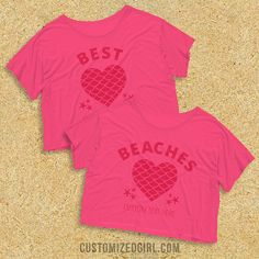 "Get this matching tank for you and your best friend! With the matching ""beaches"" shirt, you can show everybody that you two are best beaches. Relax by the ocean in this cute and trendy top!"