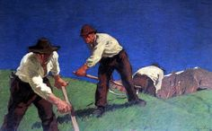 Albin_Egger-Lienz_Bergmäher Austria, Artists, Artwork, Painting, Pintura, Life, D Day, Hobbies, Art