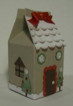 Gingerbread House Milk Carton