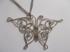 How to make a wire wrapped pendant. Celtic Butterfly Pendant necklace