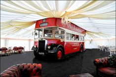 Inside the marque with the Double Decker Bus
