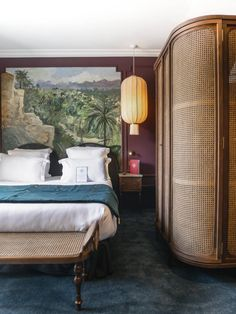How to recreate the bedrooms of some of our favourite design hotels - Travel - exotic influences at hotel monte cristo - Design Hotel, House Design, Hotel Bedroom Design, Casa Hotel, Linen Bed Sheets, Bed Linens, Master Bedroom, Bedroom Decor, European Furniture