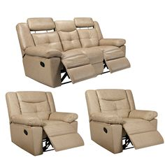 Damon Leather Reclining Sofa Power Recliner 82w X 39d X