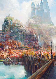 "Concept art for Disney's ""Tangled"" by Craig Mullins."