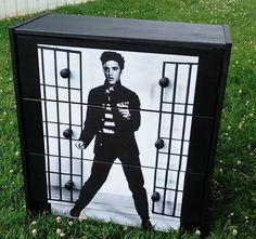Custom Made Elvis Jailhouse Rock 3 Drawer Chest Nightstand on Etsy