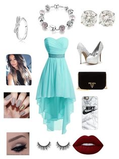 """""""Prom"""" by jacobsartorius2002 on Polyvore featuring Prada, Casetify, Lime Crime and Pandora"""