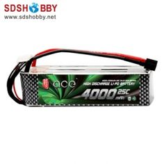 Gens ACE New Design High Quality 4000mAh 25C 6S 22.2V Lipo Battery with T Plug