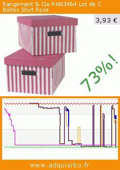 Rangement & Cie RAN3464 Lot de 2 Boîtes Shirt Rose (Cuisine). Réduction de 73%! Prix actuel 3,93 €, l'ancien prix était de 14,51 €. https://www.adquisitio.fr/rangement-cie/ran3464-lot-2-bo%C3%AEtes