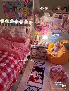 Room Design Bedroom, Room Ideas Bedroom, Bedroom Decor, Bedroom Inspo, Indie Room Decor, Aesthetic Room Decor, Otaku Room, Study Room Decor, Pastel Room