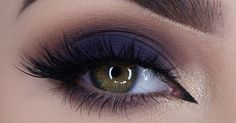 Image about beauty in Make up by Julia on We Heart It Dark blue smokey eye makeup Simple Eye Makeup, Natural Eye Makeup, Pretty Makeup, Love Makeup, Navy Eye Makeup, Navy Blue Eyeshadow, Natural Lashes, Natural Hair, Dark Smokey Eye Makeup