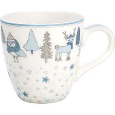 Kindertasse - Kids mug - Forrest pale blue von Greengate Kakao, Mini, Tableware, Design, Blue, Breakfast Potluck, Microwave, Tea Cup, Tumbler