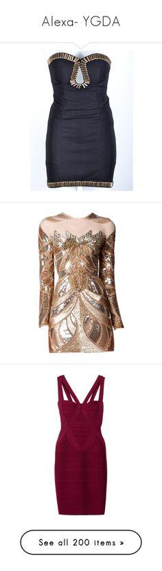 """Alexa- YGDA"" by inestrindade on Polyvore featuring dresses, vestidos, short dresses, robes, beaded dress, mini dress, beaded mini dress, beaded cocktail dress, gowns and cocktail dresses"