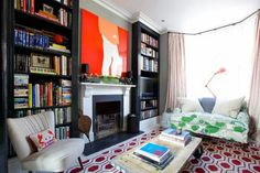A colourful London home - Eclectic - Living Room - London - by Turner Pocock London Living Room, Living Room Tv, Living Room Remodel, Room London, Eclectic Living Room, Eclectic Decor, Living Room Designs, Eclectic Sofas, Victorian Living Room