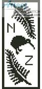 New Zealand Bookmark 2 Counted Cross Stitch Pattern http://www.artecyshop.com/index.php?main_page=product_info&cPath=26&products_id=1092