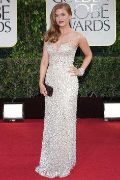 Isla Fisher in Reem Acra, Golden Globes 2013