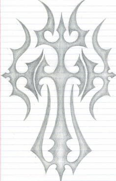 Tattoos Discover The Cross by DarkKamikazi on DeviantArt this is a design inspired by the cross.i hope u like it.i had a great time drawing this design.expect more designs from me Easy Graffiti Drawings, Dark Art Drawings, Tattoo Design Drawings, Pencil Art Drawings, Beautiful Drawings, Art Drawings Sketches Simple, Easy Drawings, Cross Drawing, 3d Art Drawing