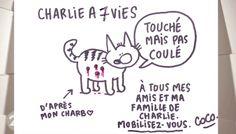 "By #Coco dessinatrice à #CharlieHebdo : ""je perds des amis, une famille. Il faut qu'on se reconstruise"" - 10 january 2015"