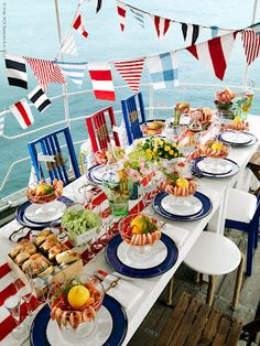 Fourth of July celebration tablescape; this one is by stylist Madelin Downey