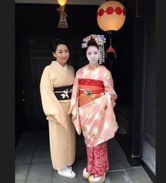 News: a fresh minarai of the Umeno okiya in Kamishichiken has just made her debut today! Her name is Umekana 梅叶菜 Photo by yuko_umeno on Instagram