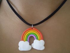 Rainbow necklace by Shatya.deviantart.com on @deviantART