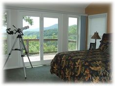 Spacious family-friendly home; North Carolina Cabins, Mountain View, Comforters, Blanket, Bedroom, Home, Creature Comforts, Quilts, House