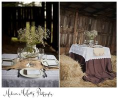 romantic rustic barn tablescapes in AR!