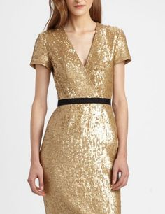 @Burberry London Shimmering Sequin Dress