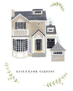 House illustrations by Rebekka Seale