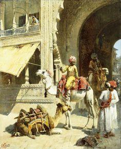 Indian Scene, 1884-89 (oil on canvas)