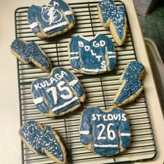 @Tampa Bay Lightning hockey jersey & bolt cookies