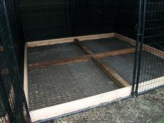 For the bottom of outside dog kennel (and fencing?) - keep dog from digging out of kennel run