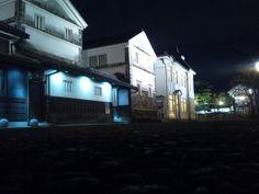 夜に浮かぶ白壁