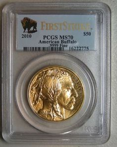 2010 $50 Gold American Buffalo PCGS MS 70 FS