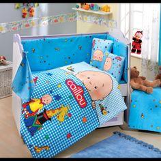 Caillou Blue  Baby  Duvet Quilt Comforter Cover  Set 1   paradise - Children's on ArtFire