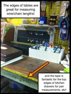 Ruler Tape on Jewelers Bench