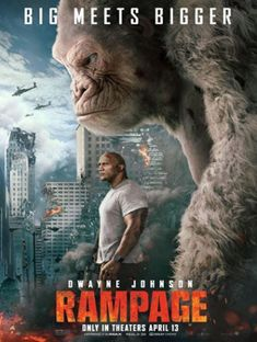 Directed by Brad Peyton. With Dwayne Johnson, Naomie Harris, Malin Akerman, Jeffrey Dean Morgan. When three different animals become infected with a dangerous pathogen, a primatologist and a geneticist team up to stop them from destroying Chicago. Dwayne Johnson Movies, The Rock Dwayne Johnson, Hindi Movies, Movies To Watch, Good Movies, Rampage Movie, Capas Dvd, Steve Martin, English Movies