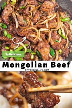 weeknight dinner This mongolian beef recipe is easy and delicious. Its the perfect quick and easy weeknight dinner. Easy Mongolian Beef, Mongolian Beef Recipes, Quick Dinner Recipes, Quick Easy Meals, Quick Recipes With Beef, Supper Recipes, Paleo Dinner, Lunch Recipes, Healthy Weeknight Meals