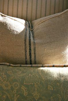 The Polished Pebble: Master Bedroom Fabric Choices: Botanical Inspiration
