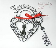 Dekorácie - Forever...zámok a klúčik - 5378940_
