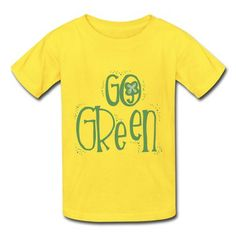 Go Green Wordart  Youth T-shirts on Sale-Holidays & Occasions T-shirts with 98% happy customers! Create custom shirts and personalized goods at HICustom,Use our online designer to add your design, logos, or text. easily!