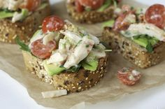 Open-Faced Crab Salad Toast