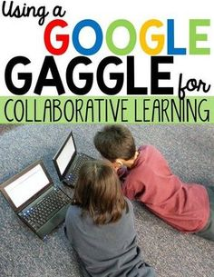 Collaborative Learning on Google gets even better with the Google Gaggle! Elementary students sometimes need help when using Google Apps #GAFE. See how this collaborative learning strategy transformed my classroom, reduced passive screen time, and increased engagement