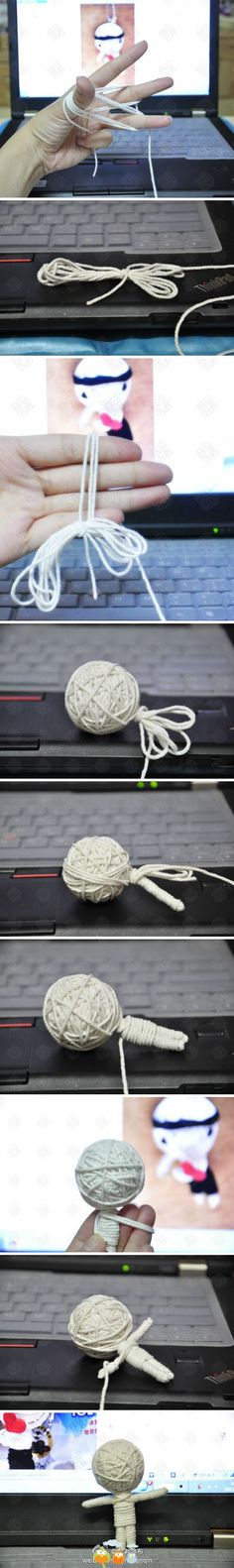 Yarn Voodoo Doll Tutorial
