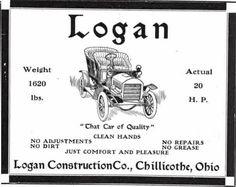 1905 Logan Automobile Advertisement