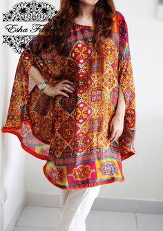 Cape Dress Stylish Dress Designs, Designs For Dresses, Stylish Dresses, Simple Dresses, Casual Dresses, Fashion Dresses, Pakistani Fashion Casual, Pakistani Dresses Casual, Indian Fashion