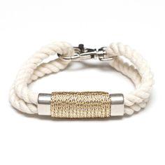 Allison Cole Nautical Rope Bracelet - Metallic Silver
